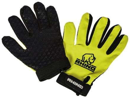 Rhino Official Pro Full Finger Mitts Gloves - Kids & Adult Yellow