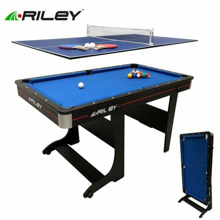 Riley 5Ft 3in1 Vertical Folding Pool Table