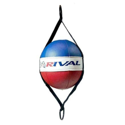 """Rival Double End Boxing Bag - 8"""" Floor to Ceiling Bag Red White Blue"""
