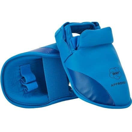 SMAI WKF Approved Foot Guard - Blue & Red - Karate