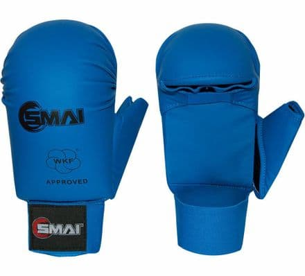 SMAI WKF Approved Gloves With Thumb - Blue & Red - Karate