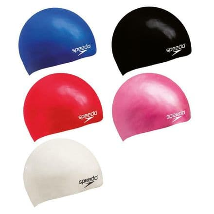 Speedo Moulded Silicone Swim Cap - Swimming - Lots of Colours