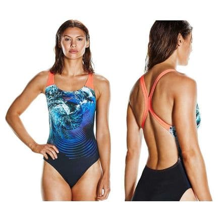 Speedo StormFlow Digital Powerback Swimsuit - Swimming