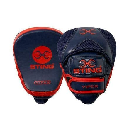 Sting Boxing Focus Mitts - Viper Speed Pads Navy Red Leather