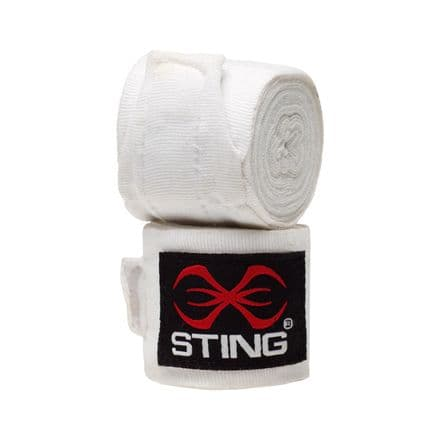 Sting Boxing Hand Wraps AIBA Approved White 2.5m 4.5m