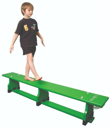 Sure Shot 1.8m (6ft) Coloured Bench - Green - Yoga Gymnastics Aerobics