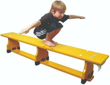Sure Shot 1.8m (6ft) Coloured Bench - Yellow - Yoga Gymnastics Aerobics
