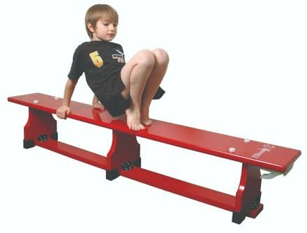 Sure Shot 2.65m (8ft9ins) Coloured Bench - Red - Yoga Gymnastics Aerobics