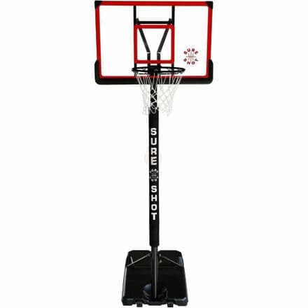 Sure Shot Adjustable Basketball Stand With Padded Pole and Acrylic Backboard