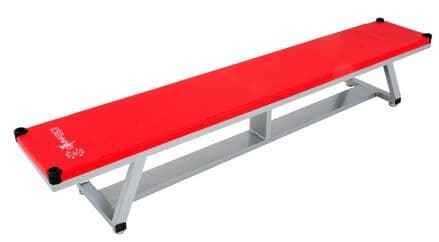 Sure Shot Lightweight Aluminium Bench - Red - Yoga Gymnastics Aerobics