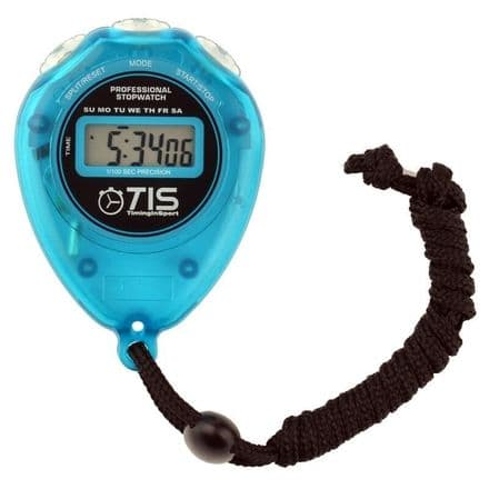 TIS Pro 018 Sports Timer Stopwatch - Blue