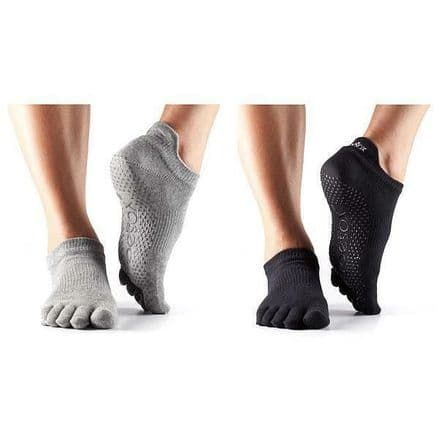 Toesox Low Rise Full Toe Socks - Fitness, Gym