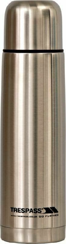 Trespass Stainless Steel Flask 750ml Camping Hiking Festival Fishing
