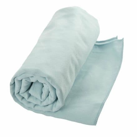 Trespass Towel Antibacterial with Zip Carry Bag Camping Hiking Festival Fishing
