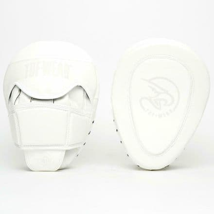 Tuf Wear Boxing Atom Gel Curved Hook and Jab Pad White