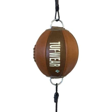 Tuf Wear Boxing Floor to Ceiling Ball Classic Brown Leather Top to Bottom Ball
