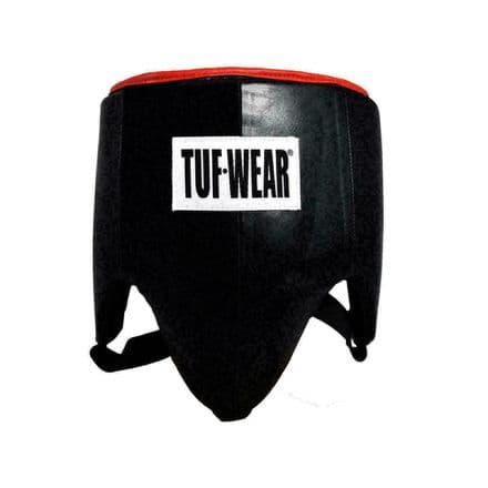 Tuf Wear Boxing Groin Guard Leather Pro Style Black