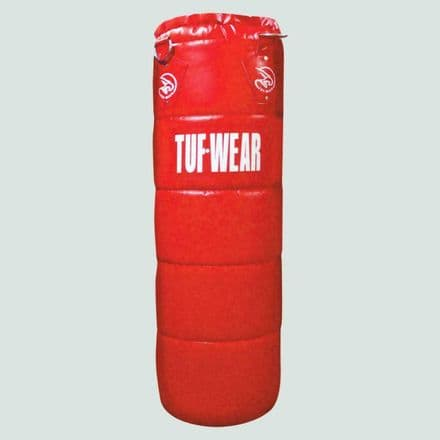 Tuf Wear Boxing Punch Bag PU Quilted Punchbag 4FT Red