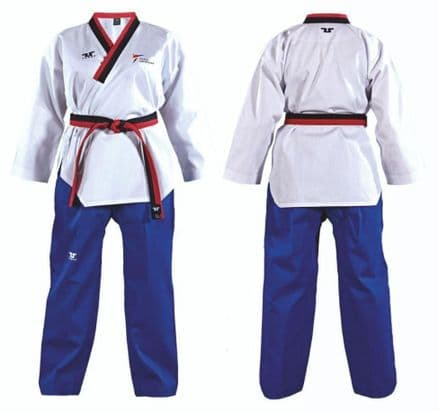 Tusah Adults World Taekwondo EasyFit Male Poom DOBOK TKD