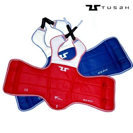 Tusah WT Approved Reversible Competition Body Armour Taekwondo TKD