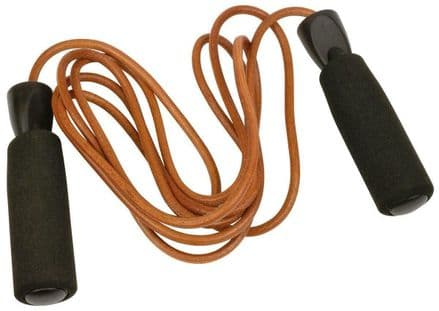 Urban Fitness 2.7m Leather Jump Rope - Training, Gym, Fitness