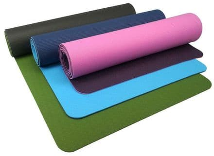 Urban Fitness Mat TPE Home Exercise Gym Yoga with Strap - 6mm