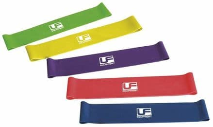 "Urban Fitness Resistance Band Loop (Set of 5) 10"" - Gym Fitness Training"