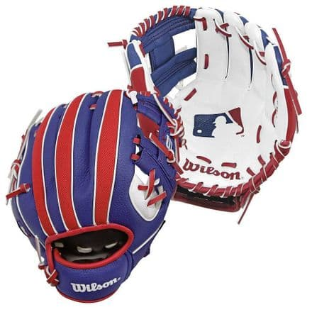 Wilson A200 Baseball Glove 10 inch - Red/White/Blue