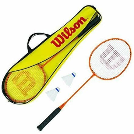 Wilson Badminton 2 Player Gear Set - (Inc 2 Rackets and 2 Shuttles)