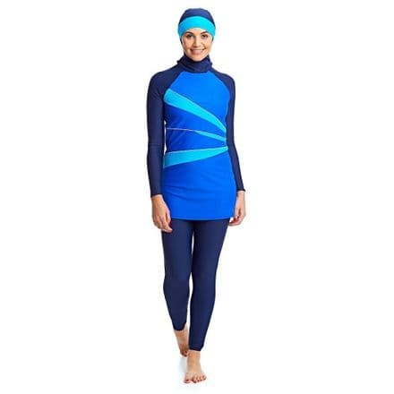 Zoggs Ladies Hydrolife Aqua Reef Modesty Swimming Swimsuit