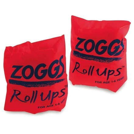 Zoggs  Swimming Swim Red Roll Up Inflatable Armbands