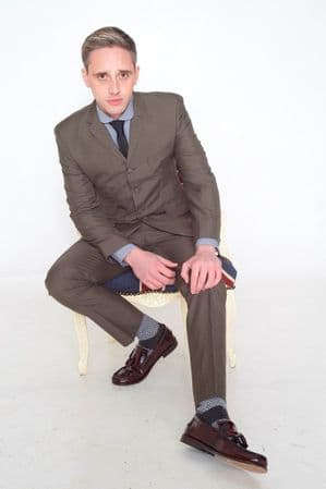 """""""BlueBeat"""" Brown & Black Dogtooth 4 Button Suit"""