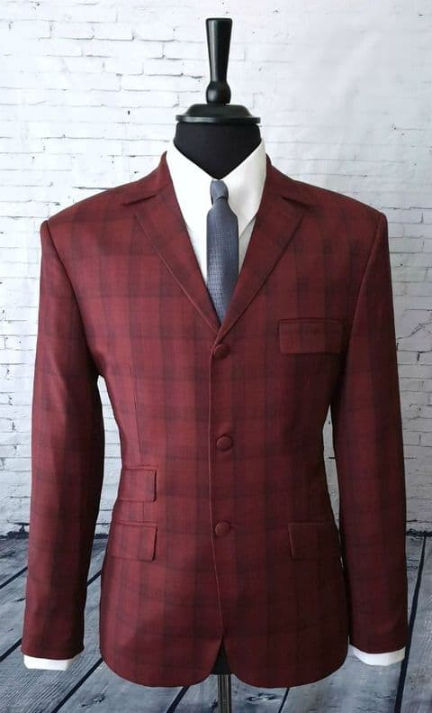 """Lawson""  Stunning Burnt Burgundy Checked Suit."