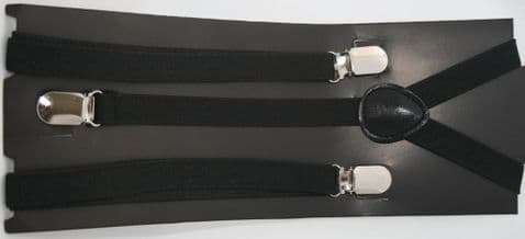 Black Brace Slim With Clips