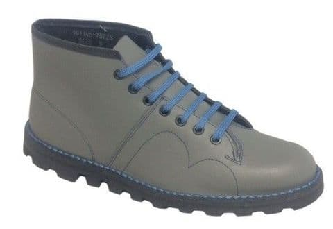Grafters Leather Upper Grey Monkey Boot