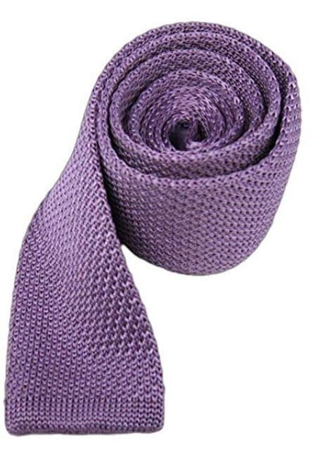 Lilac Slim Knitted Tie