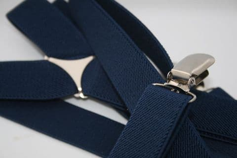 Navy Brace Slim With Clips