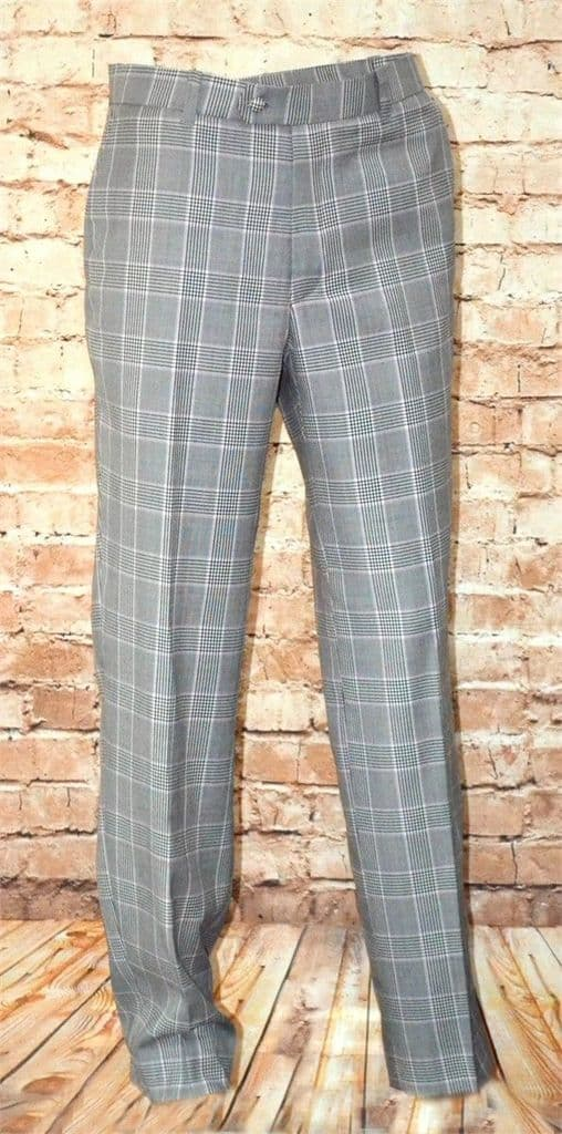 PINK POW CHECK TROUSER FINE CASHMERE WOOL BLEND