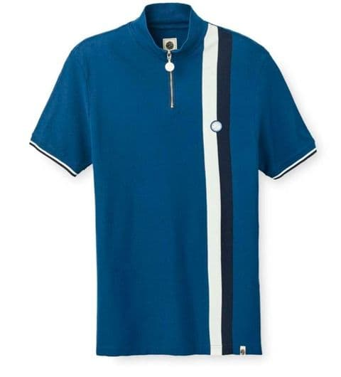 Pretty Green Blue Striped Cycling Top