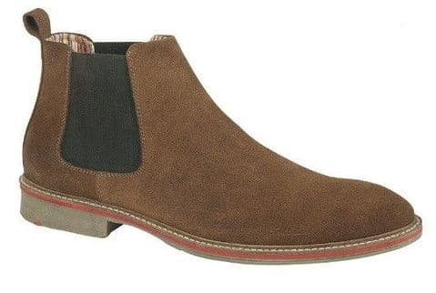 Roamer Sand Real Suede Gusset Boot Textile Lining Suede Sock TPR Sole