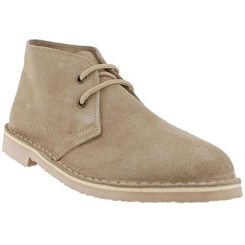 Roamers Taupe Original Classic Mod Suede Desert Boots