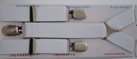 White Brace Slim With Clips