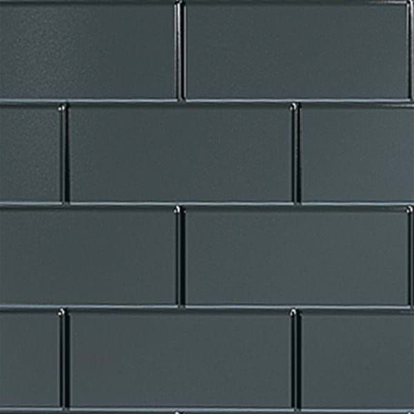 Tilepanel Brick, Bevelled Black Horizontal 5071-MTPBHBL