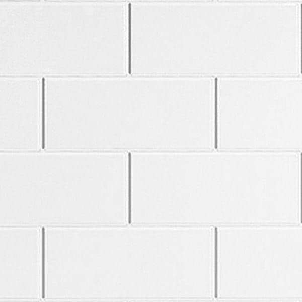 Tilepanel Brick, Bevelled White Horizontal 5101-MTPBHWH