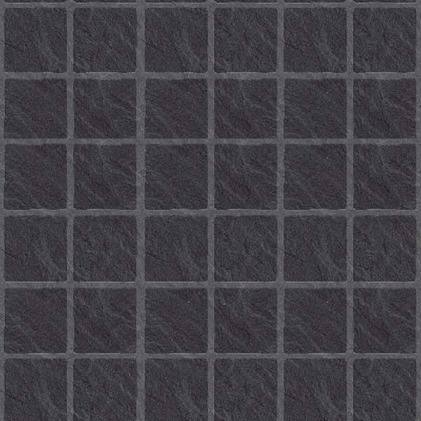 Tilepanel Embossed Black Slate Large Matt 71465L