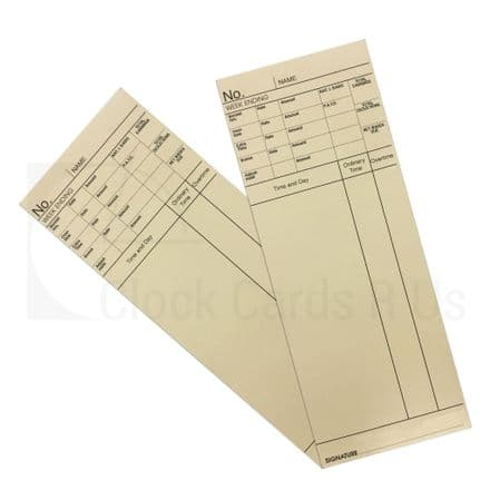 103302 Time Clock Cards