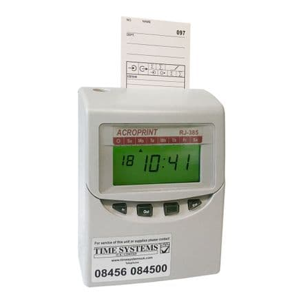 Acroprint RJ-385 Automatic Time Recorder Clocking In Machine