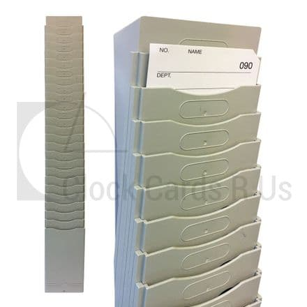 Expandable Plastic Card Rack - 620mm (H, 98mm (W)