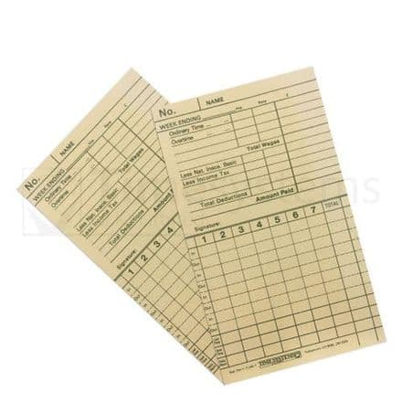 G.T.1 Card Time Clock Cards