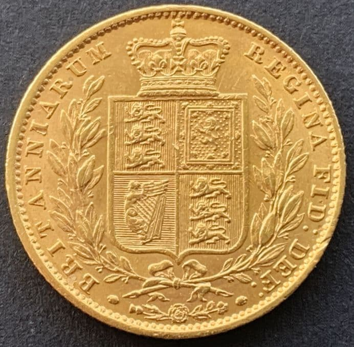 1852 Gold  Sovereign Coin